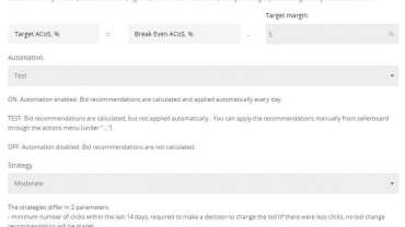 New PPC Bid Automation Features in sellerboard